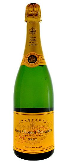 SPARKLING: Veuve Clicquot Brut Champagne  SKU #100026  92 points Wine Spectator   Tightly knit, focused by racy acidity and a streak of minerality, this offers subtle notes of white peach, anise, biscuit and kumquat. The refined finish echoes a smoky note. Drink now through 2022.   (12/ 2012)