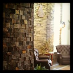 Beautiful reclaimed barn wood tiles from Everitt & Schilling.