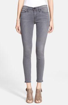 Frame Denim 'Le Skinny' Sateen Skinny Jeans (Greys Inn) available at #Nordstrom