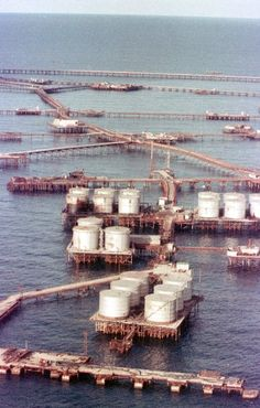 """Stalinist Utopia in the Caspian Sea...The reef on which Neft Dashlari was built was originally called """"Black Rock."""" But after Soviet engineers discovered oil reserves here, it was renamed """"Oily Rock"""" -- Neft Dashlari in Azerbaijani. SpiegelOnline"""