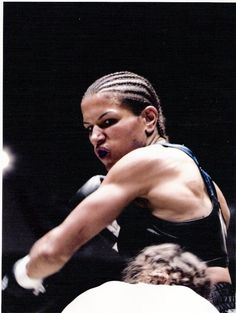 Lucia Rijker. Picture Taken on Million Dollar Baby action shot.