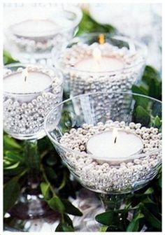 Emérita Desastre: Candelabros en copas de cristal