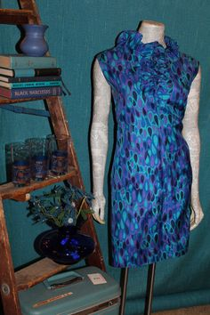Vintage Fashion Blue Raindrop Dress