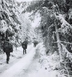 Icy Battle of the Bulge - photos from America in WWII