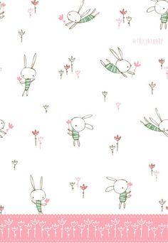 Love the bunnies flying thru the air to catch flowers... movement
