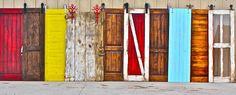 Rolling doors or barn door hardware can be attached to almost any door. http://rusticahardware.com/barn-door-hardware/