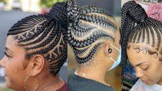 Latest Ghana Weaving Styles, Latest Hairstyles, Hair Styles, Collection, Beautiful, Women, Hair Plait Styles, Hair Makeup, Hairdos