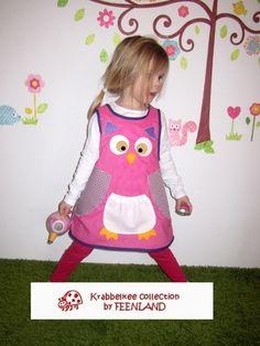 OWL Dress from Feenland Design; Schürzenkleid Eule o. Tiermotiv nach Wahl von krabbelkee collection by Feenland auf DaWanda.com