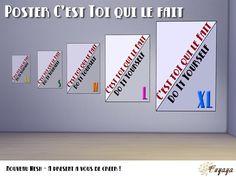 Sims 4 Tableaux C'est toi qui le fait Personnalisable