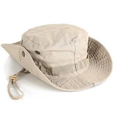 Vi.yo Boonie Hat Wide Brim Fishing Cap Summer Hunting Camping Hiking Outdoor  Camouflage Hat Unisex (Khaki). The classic Boonie hat modernized with  cotton ... 3ddfc8e19672