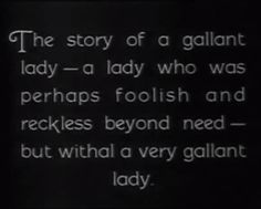 """A Woman of Affairs"" (1928)"