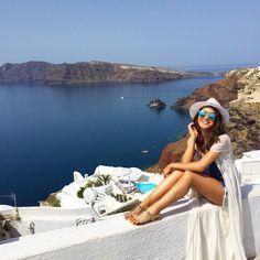 Gorgeous day in Santorini! ------ Dia maravilhoso por aqui! #abelezanasceunagrecia #chegoukorres
