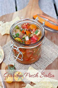 Garden Fresh Salsa with Roasted Jalapenos (Market Monday)