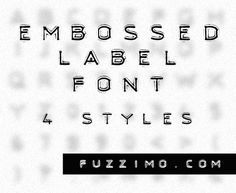 Love this font! There is also an embossed label generator on this site...fzm-Embossed-Text-Label-Font-01