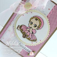 Hilda Designs: Reto #12 en ZAC: Baby Shower,  Baby Beauty Dress de Zuri Artsy Craftsy
