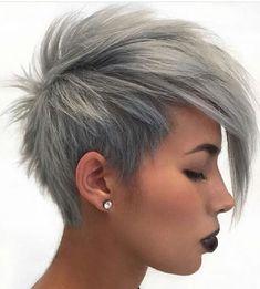 Graue Haarfarben für kurzes Haar - Pixie und Bob Frisuren