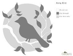 Song Bird Pumpkin Carving Pattern