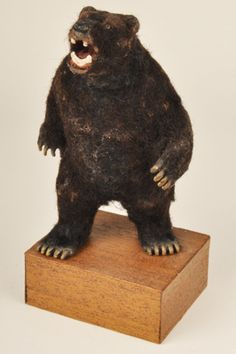 how to: stuffed bear for Victorian parlor