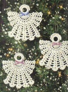 Free Christmas Angel Ornaments Crochet Pattern