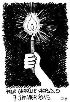 Charlie Hebdo: les dessinateurs marocains et tunisiens rendent hommage aux victimes