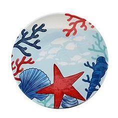 Celebrate Summer Together Coastal 9-in. Melamine Salad Plate