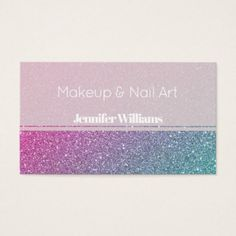 Faux golden glitter business card chic design idea diy elegant colorful chic luxury glitter business card reheart Image collections