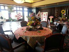 Alice in Wonderland Prom Tables