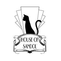 My company logo, inspired by art deco era.Copyright © House of Sandol 2012 logo ™