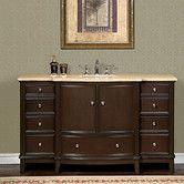 "Found it at Wayfair - Silkroad Exclusive Clarice 60"" Single Sink Cabinet Bathroom Vanity Set"
