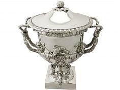 Sterling Silver Warwick Vase / Samovar - Antique George IV