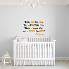 Dr Seuss Wall Decal Quote Available In Black And Orange Ideal For Some Inspiration The Nursery Playroom Or Your Child S Bedroom