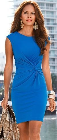 short blue dress