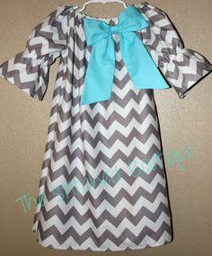 Toddler Chevron Peasant Dress
