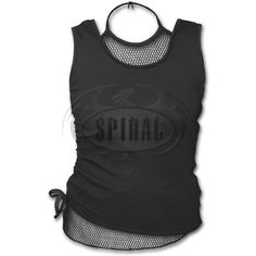Womens GOTHIC ROCK 2in1 Neck Tie Mesh Top Black From Spiral USA in the United States, 15.99$ + 3$ ship