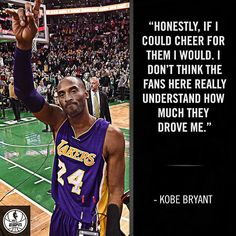 Kobe will always have a special place for Celtics fans. 12/31/2015