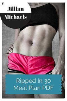Ripped In 30 Meal Plan PDF Jillian Michaels