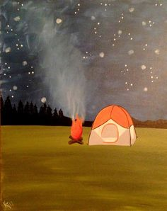 Kate- Happy Camper Glitter Girl, Happy Campers, Outdoor Gear, Paintings, Artist, Painting Art, Painting, Painted Canvas, Drawings