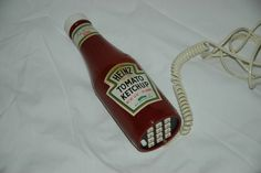 I NEED THIS!!!!  Heinz Ketchup Bottle Push-Button Telephone. $38.50, via Etsy.