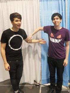 Dan Howell and Phil Lester Phil Lester, Dan Howell, British Youtubers, Best Youtubers, A Thousand Years, Dan And Phill, Look Short, Phil 3, Danisnotonfire And Amazingphil