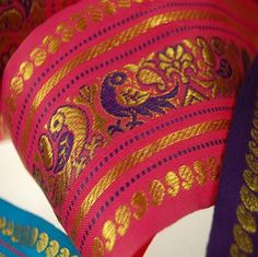 Neotrims Wide India Paisley Peacock Sari Salwar Kameez Craft Ribbon Material 9cm. Peacock Design Indian Ribbon, 9cms. Colourful and vibrant a traditional Sari ribbon Border with floral & Peacock brocade jacquard pattern. 3 Stunning colors to choose from Turquoise; Cerise or Violet. - http://craftstoresonline.org/neotrims-wide-india-paisley-peacock-sari-salwar-kameez-craft-ribbon-material-9cm-peacock-design-indian-ribbon-9cms-colourful-and-vibrant-a-traditional-sari-ribbon