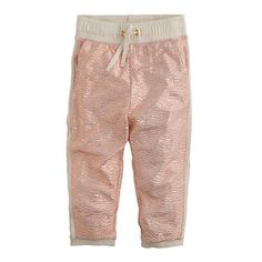 Girls' cropped shimmer jersey pant : AllProducts | J.Crew