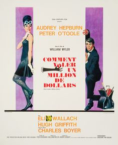 Audrey Hepburn, How To Steal A Million, Original Vintage French Petite Movie Poster by Robert McGinnis, 1966 Audrey Hepburn Poster, Audrey Hepburn Movies, 1960s Movies, Vintage Movies, Funny Movies, Great Movies, Movie Theater, Movie Tv, William Wyler