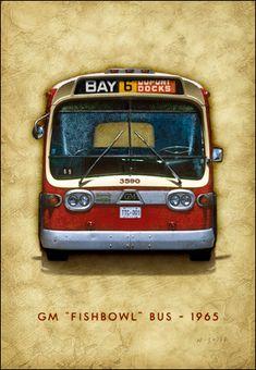 TTC GM Bus print on canvas