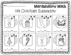FREE Christmas Addition and Subtraction {Marshmallow Math} {Great with Polar Express}