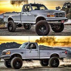 Big Ford Trucks, Custom Pickup Trucks, Vintage Pickup Trucks, Classic Pickup Trucks, Diesel Trucks, Cool Trucks, Country Trucks, Cummins, Jeeps