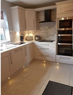 Remodeling Kitchen Lighting That corner cupboard, that's what I have in mind for above the new sink Home Decor Kitchen, Kitchen Interior, New Kitchen, Home Kitchens, Kitchen Ideas, Ovens In Kitchens, Kitchen Corner Cupboard, White Kitchen Floor, Kitchen Units