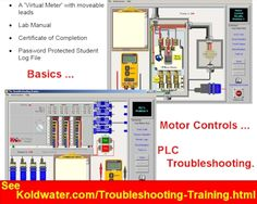 You will want to hurry while free Troubleshooting Training simulator is still there. You will find download link on Koldwater's home page. after installing, your User Name: Free TSTrainer Activation Code: 05132004AFCC-Free http://www.koldwater.com/Electrical-PLC-Troubleshooting-Training.html