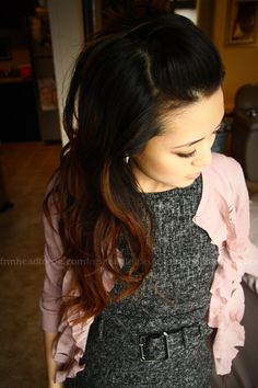 Loving the ombre hair trend. That way I can just grow my already-dyed hair out =P