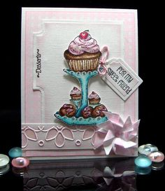 Stamps - Our Daily Bread Designs  Gingham Background, Recipe Card Categories, Cupcake Plate,  Baking Tag Sentiments.  Exclusive Recipe Card and Tags Die.