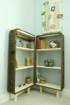Suitcase bookcase